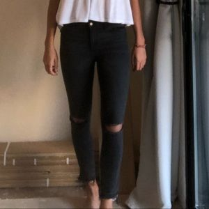Abercrombie & Fitch black ripped jeans
